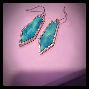 Melanie Auld turquoise and pave diamond earring